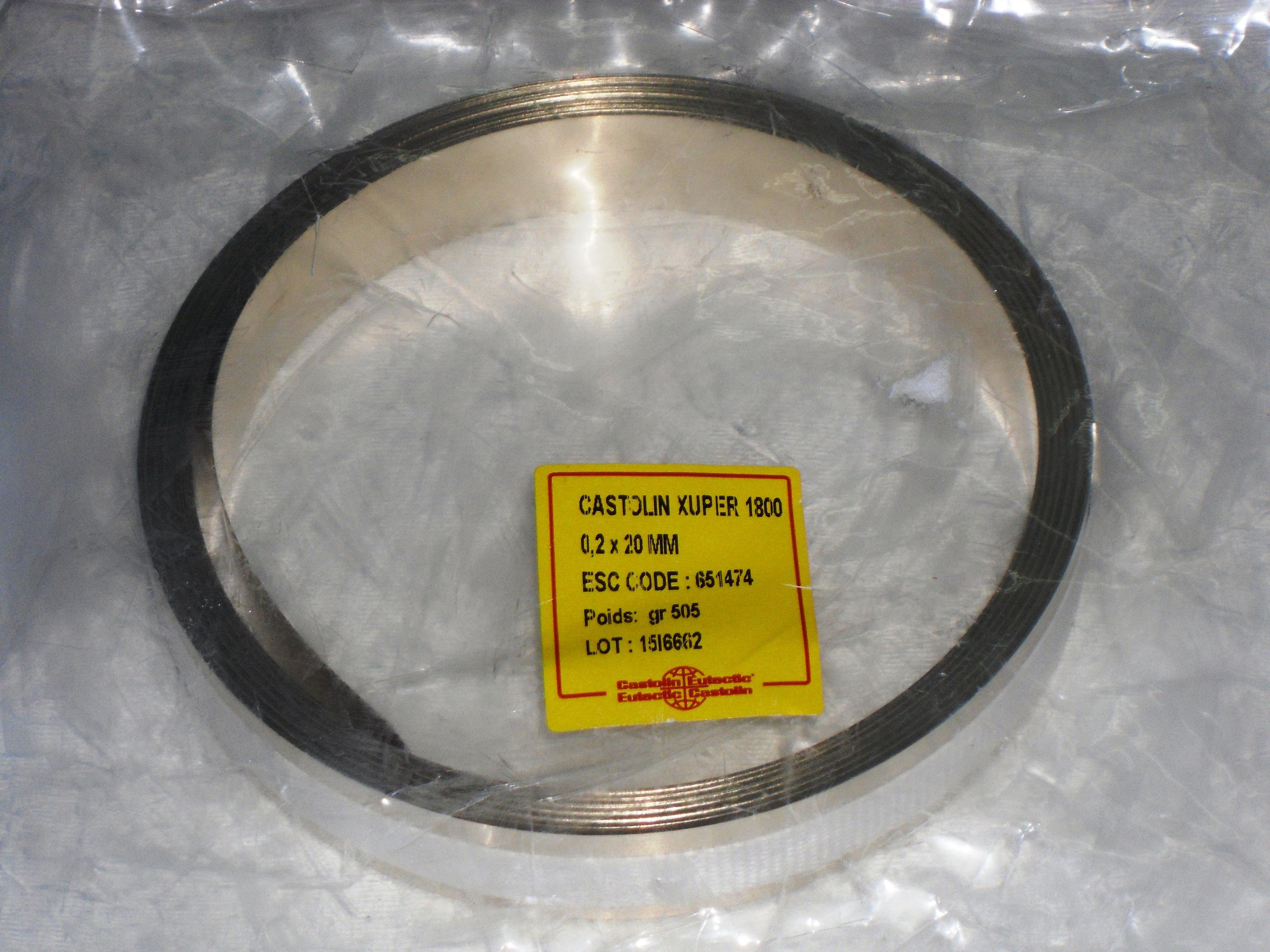 CASTOLIN XUPER 1800 0.2X20MM ESC CODE 651474 505 GR