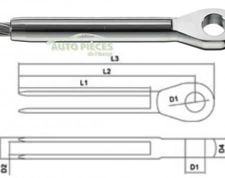 EMBOUT A OEIL A SERTIR EN INOX 7TT190014 CABLE 14 mm