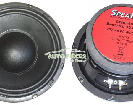 HAUT PARLEUR ENCEINTE SPEAKA PA WOOFER CPA8-100 CPA 8-100 300842
