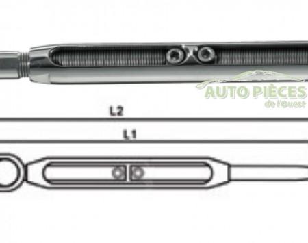 TERMINAL A BASCULE TENDEUR DE SERTISSAGE VOILIER BATEAU 6TT031016 TYETEC 16 mm - BB11