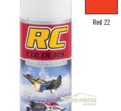 PEINTURE AEROSOL RC COLOURS GHIANT RED 22 ROUGE BATEAUX AVIONS