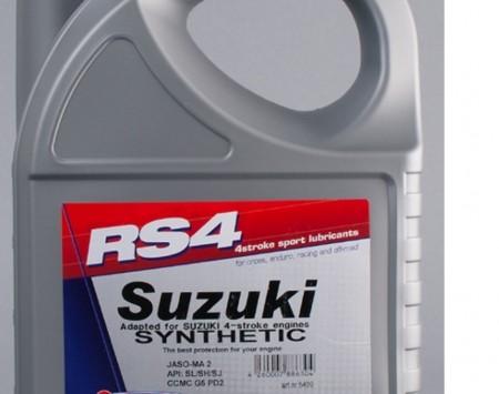 HUILE MOTEUR RS4 SUZUKI MOTO 4 TEMPS CROSS ENDURO OFF ROAD 5 LITRES