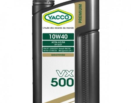 HUILE YACCO 10W40 - VX500 - 2 LITRES